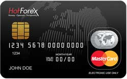 Hot Forex is another forex broker offering a debit card